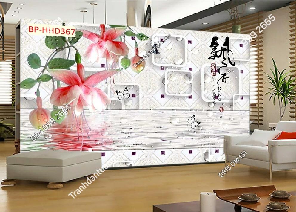 Tranh nụ hoa hồng 3D HHD367