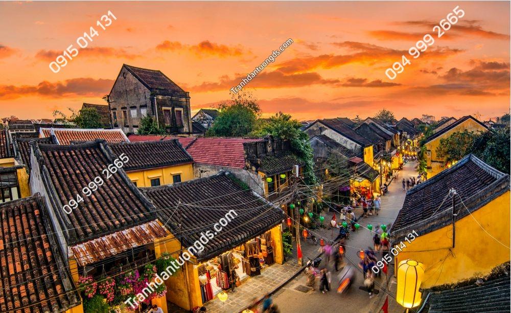 Tranh phố cổ Hội An nhìn trên cao 1303493764