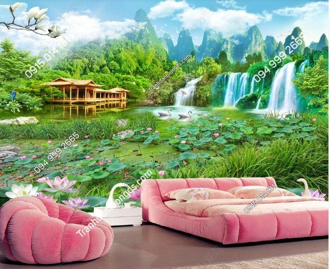 Tranh phong cảnh 3D cho phòng khách DS_15321424