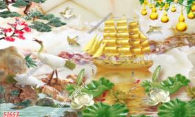 20  Mẫu Tranh Dán Tường Thuận Buồm Xuôi Gió 3D Đẹp Nhất