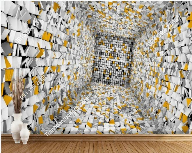 Tranh tường 3D ảo diệu DS_17407905