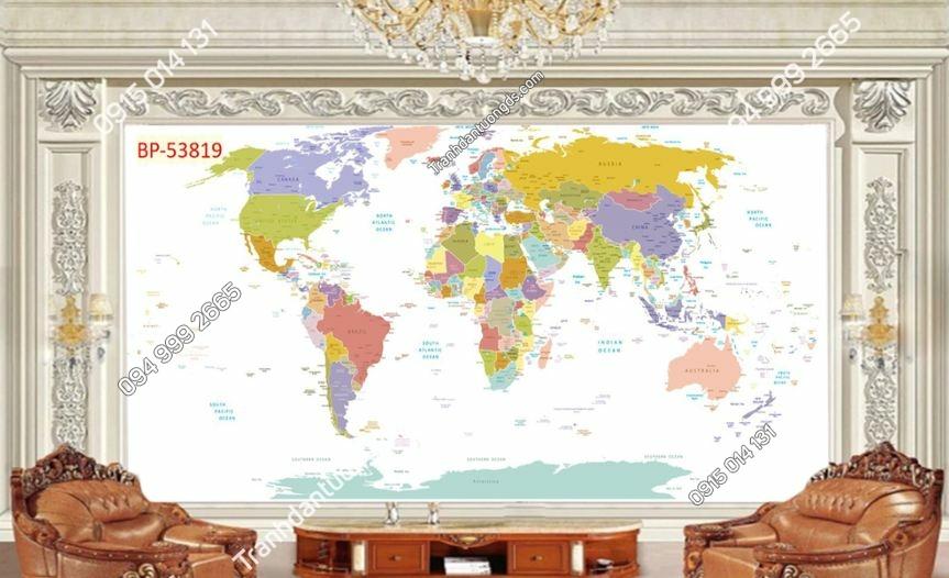 Tranh tường bản đồ địa lý 53819