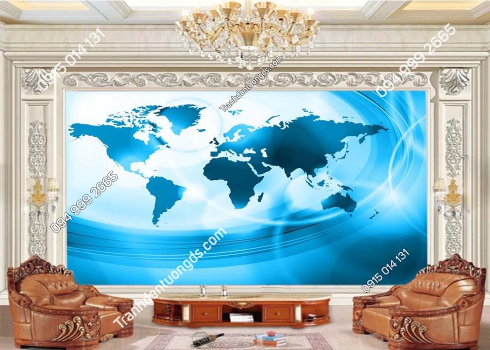 Tranh tường bản đồ hiện đại 0002