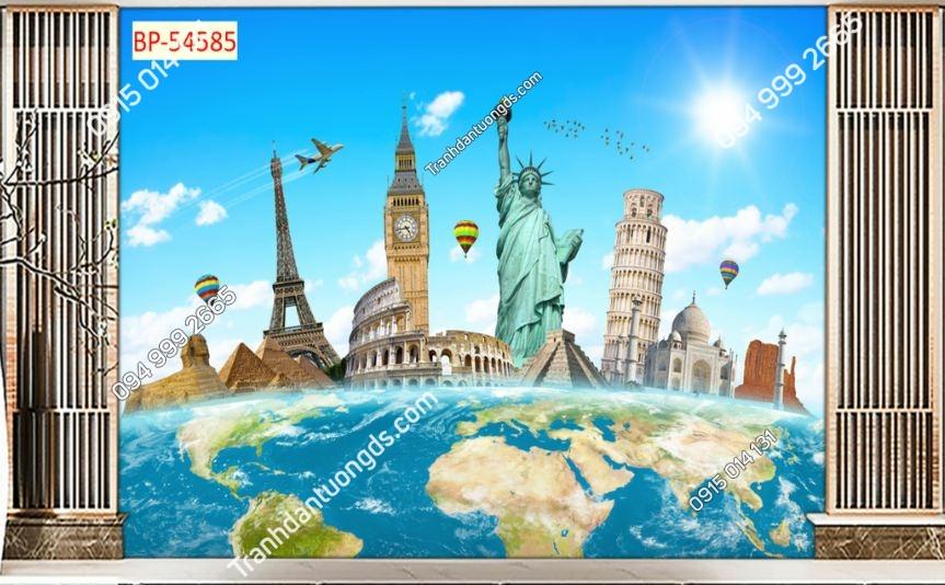 Tranh tường bản đồ và các kỳ quan 54585