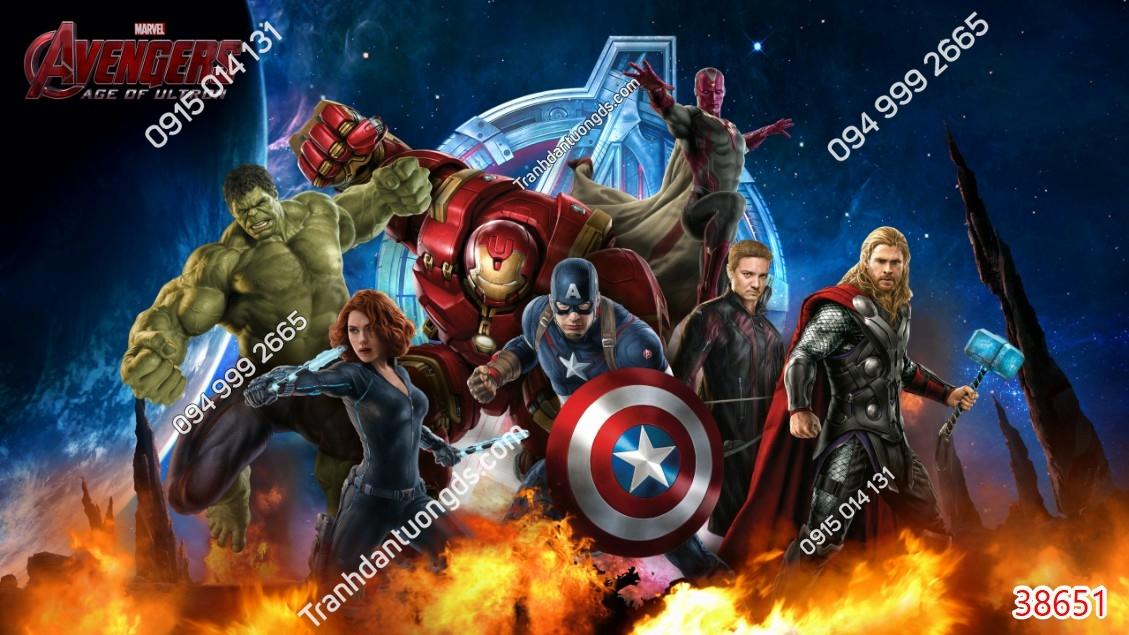 Tranh tường các siêu anh hùng 38651