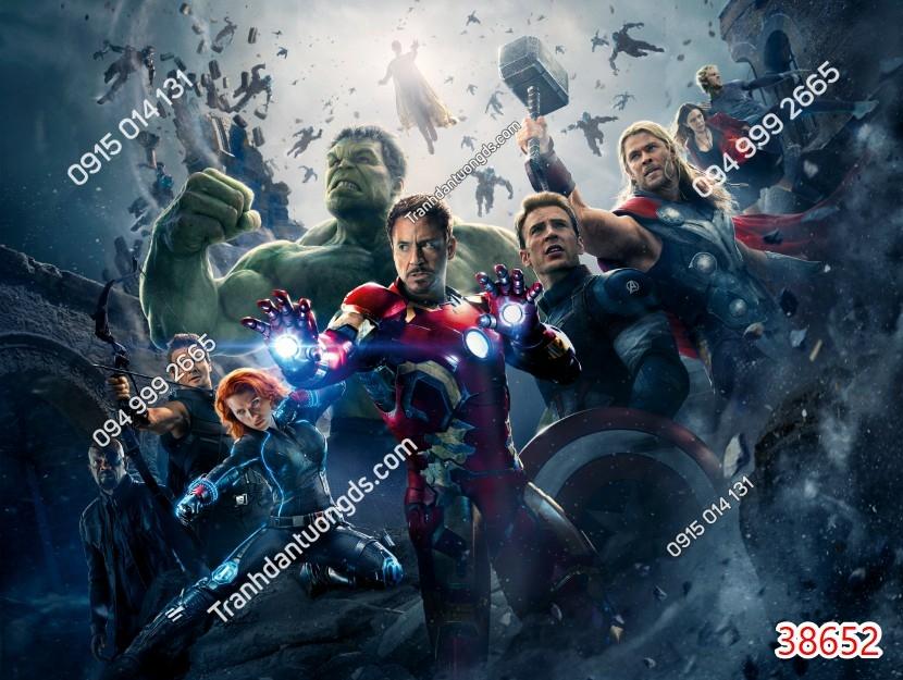 Tranh tường các siêu anh hùng 38652
