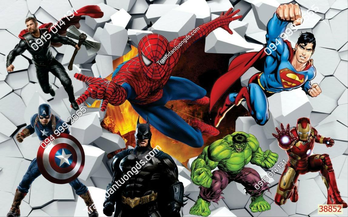 Tranh tường các siêu anh hùng 38852