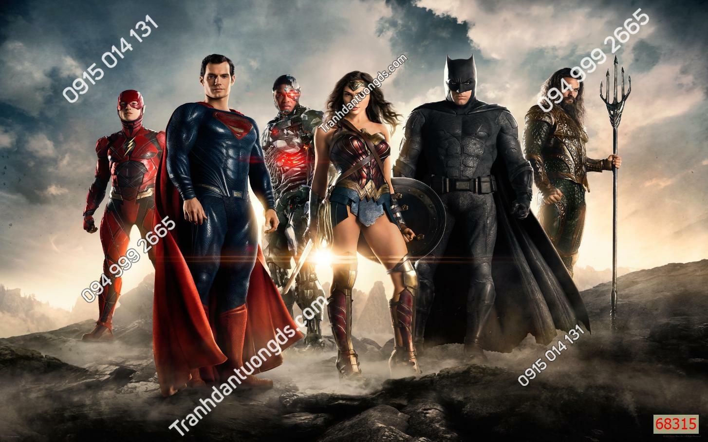 Tranh tường các siêu anh hùng 68315