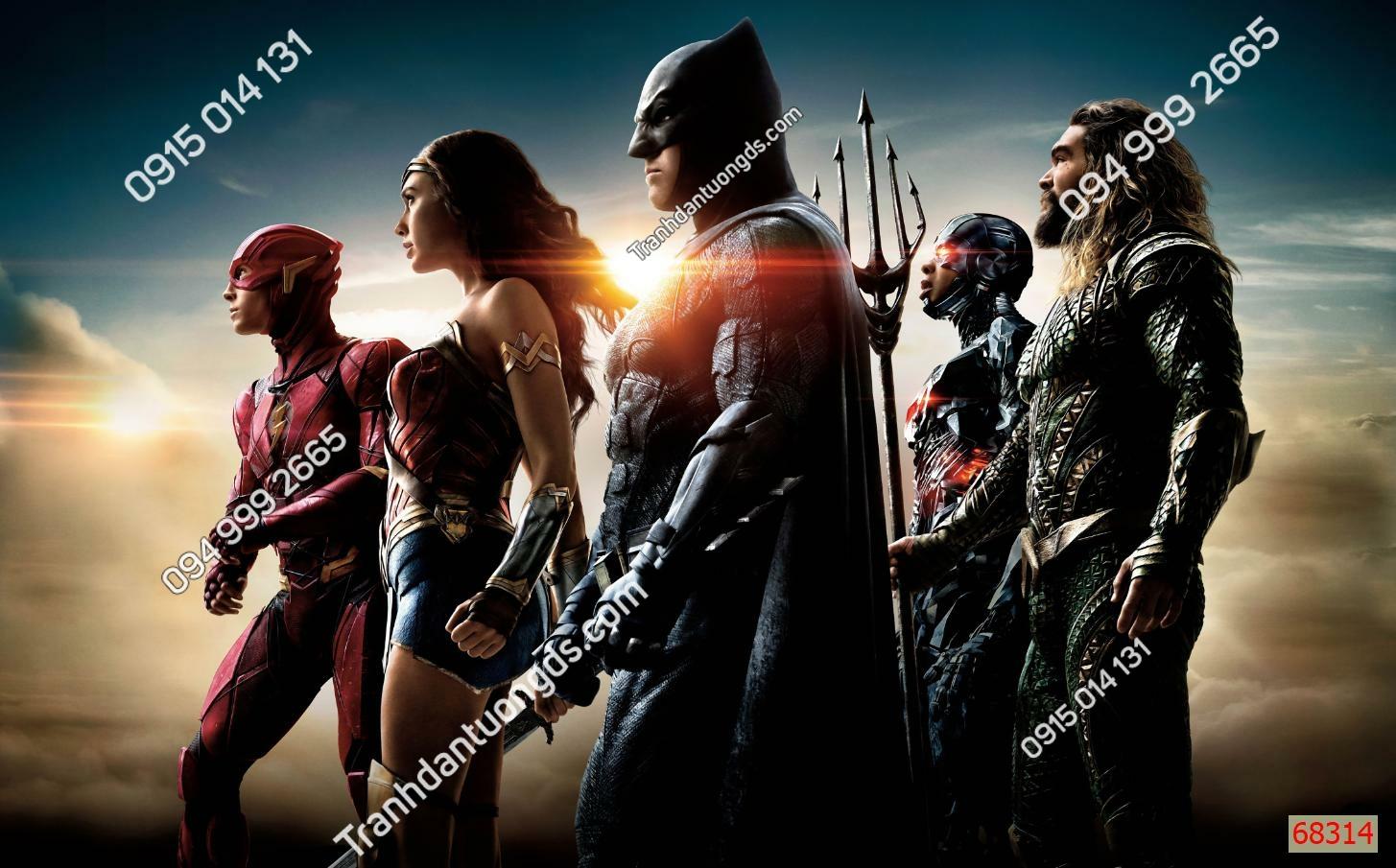 Tranh tường các siêu anh hùng avenger 68314