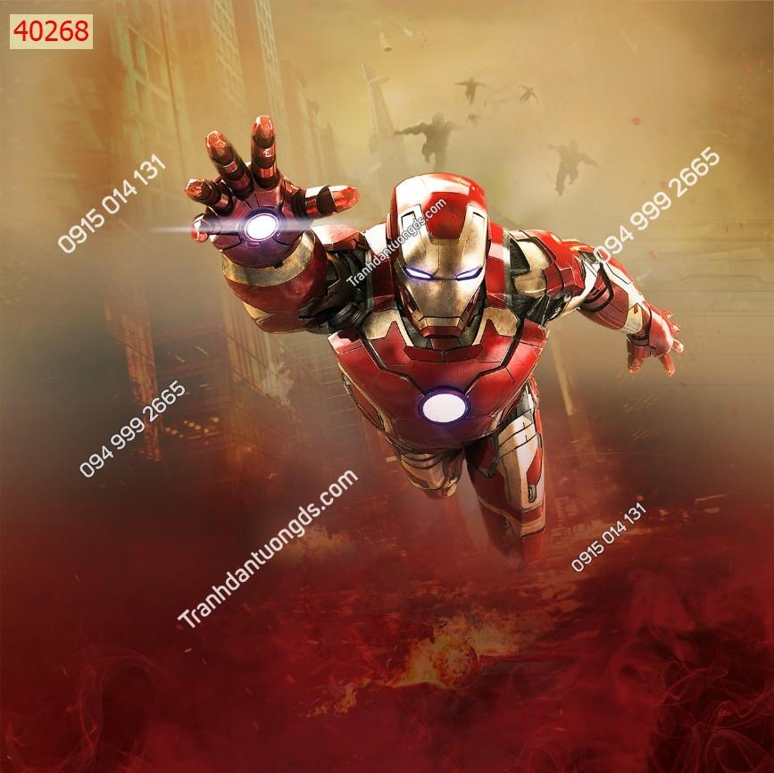 Tranh tường các siêu anh hùng ironman 40268