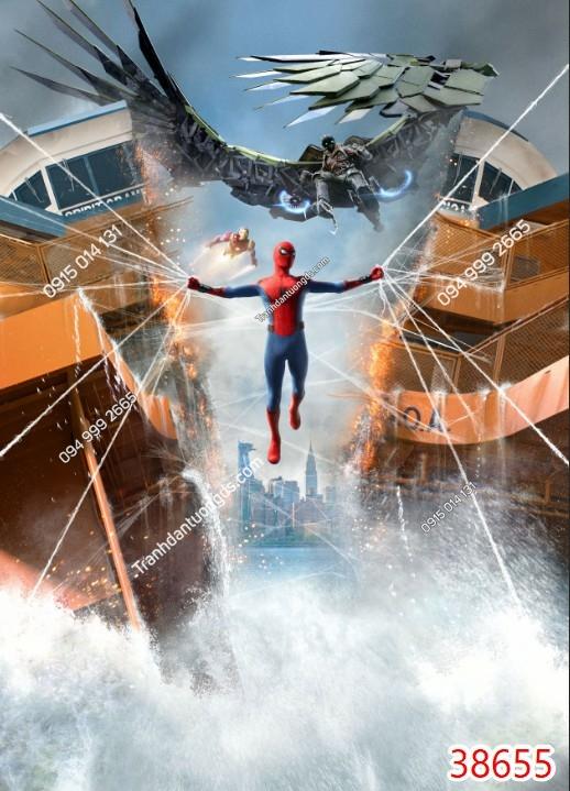 Tranh tường các siêu anh hùng người nhện spiderman 38655
