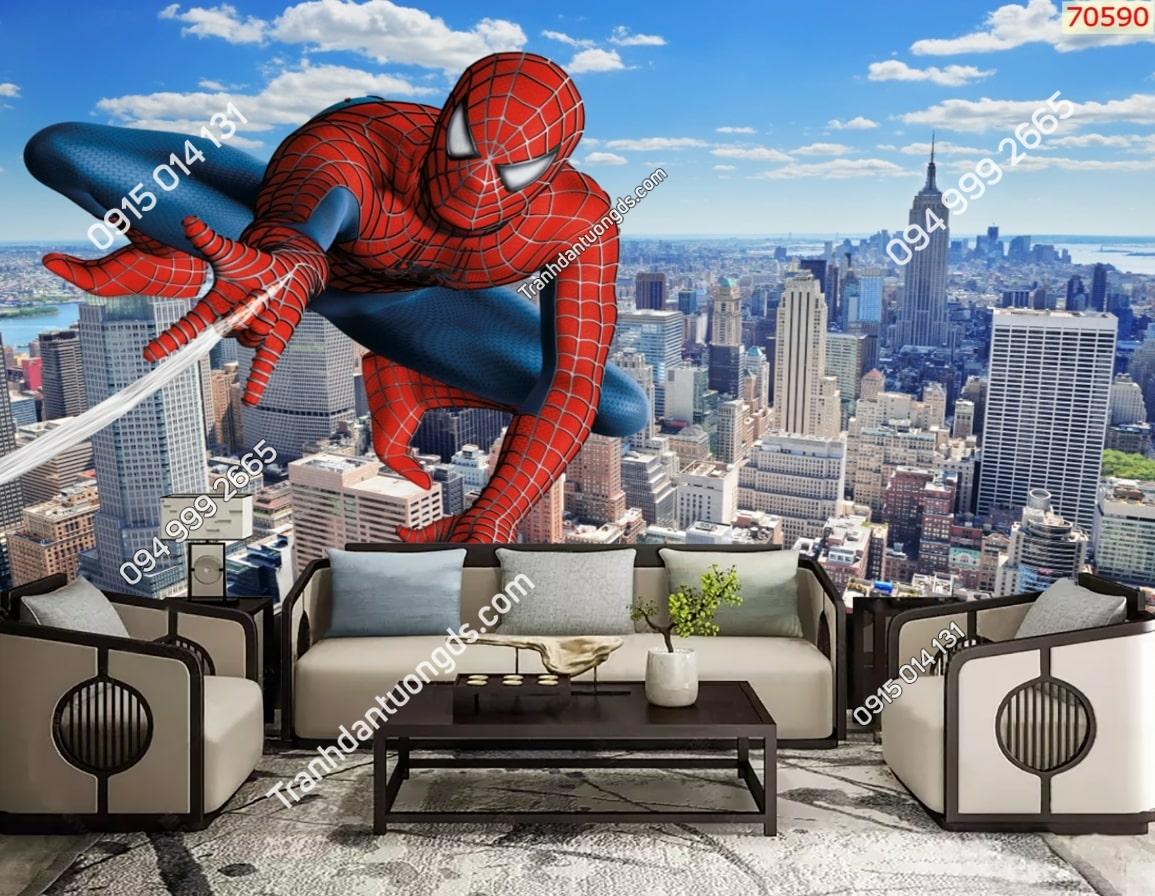 Tranh tường các siêu anh hùng người nhện spiderman 70590