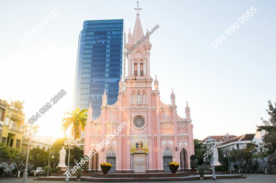Tranh tường cảnh Giáo xứ chính tòa Đà nẵng 1317949790