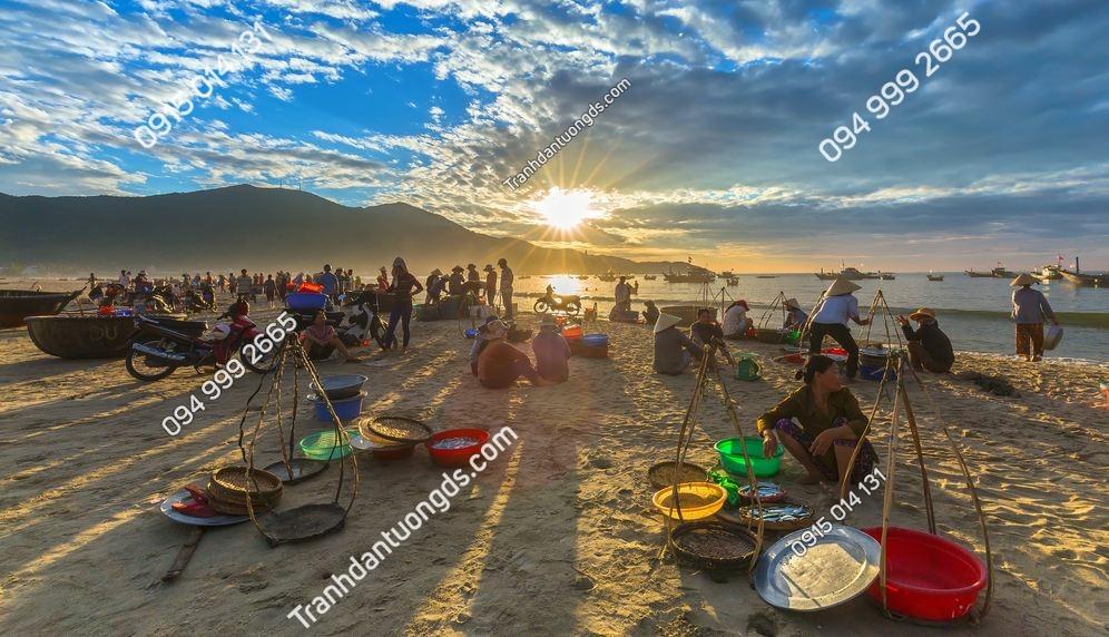 Tranh tường chợ bãi biển Đà nẵng 420030586