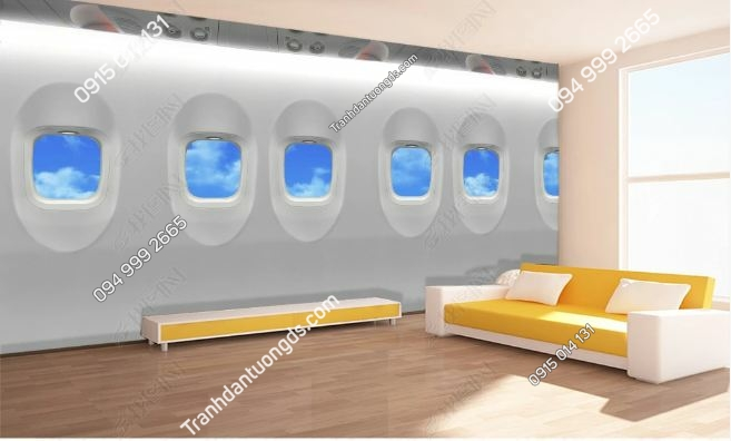 Tranh tường giả khoang máy bay 3D DS_17418879