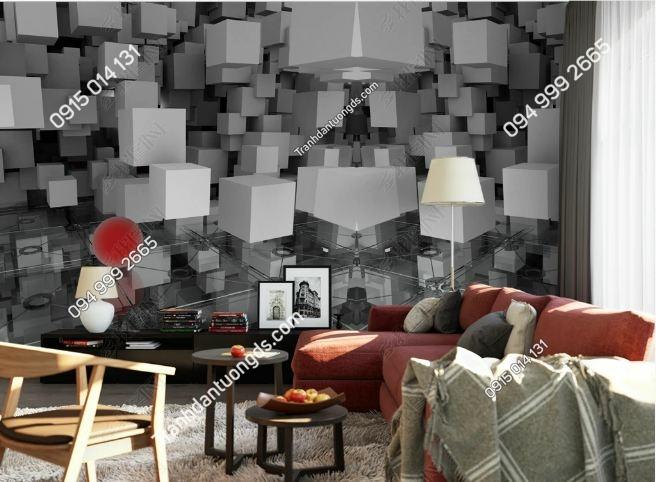 Tranh tường giả khối đá 3D DS_17344351