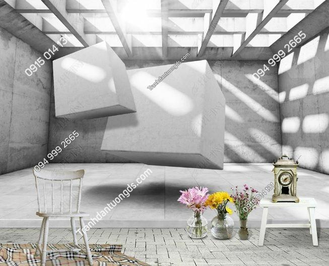 Tranh tường giả khối đá 3D DS_17366436