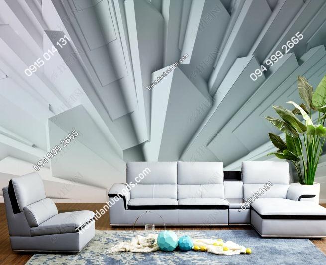 Tranh tường giả khối đá 3D dán phòng khách DS_18533453