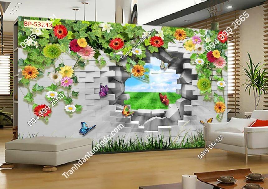 Tranh tường hoa 3D 53243