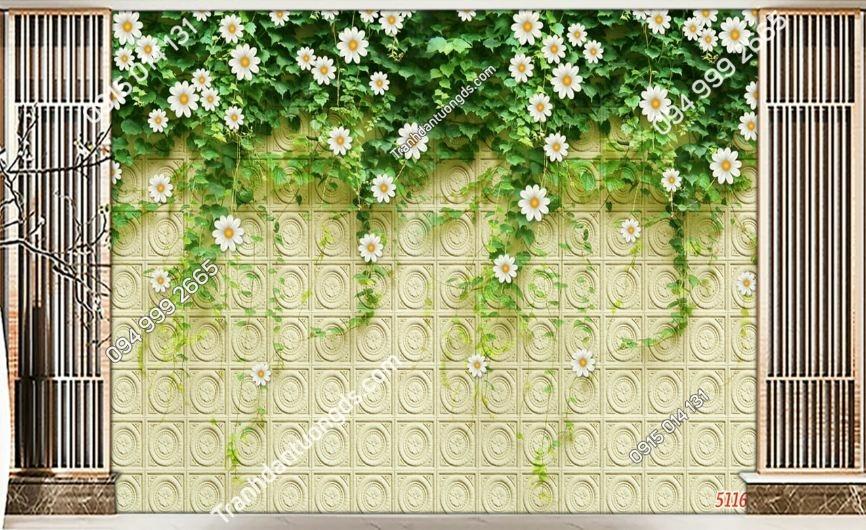 Tranh tường hoa cúc leo 51167