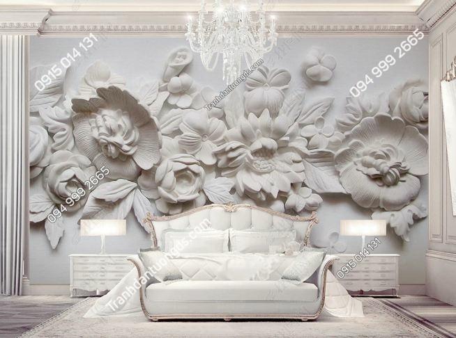 Tranh tường hoa giả điêu khắc 3D DS_15692696