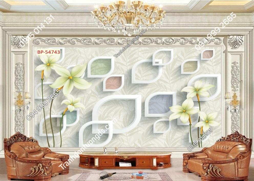Tranh tường hoa hiện đại 54743