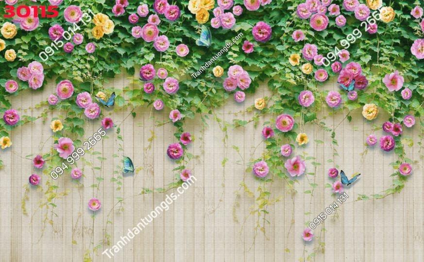 Tranh tường hoa hồng 3D 30115