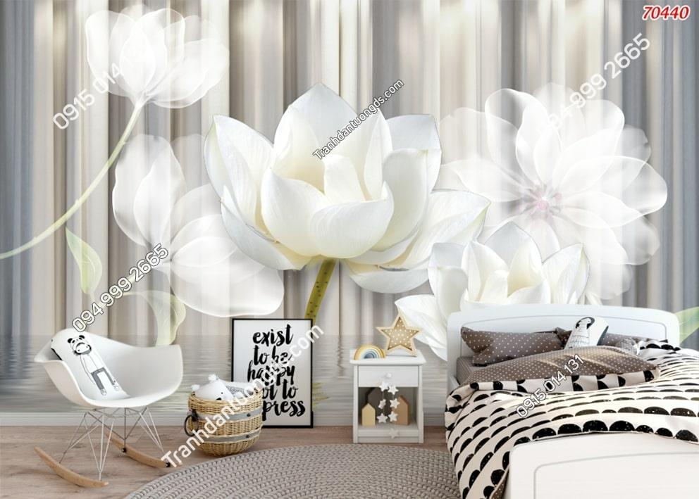 Tranh tường hoa trắng như bông 70440