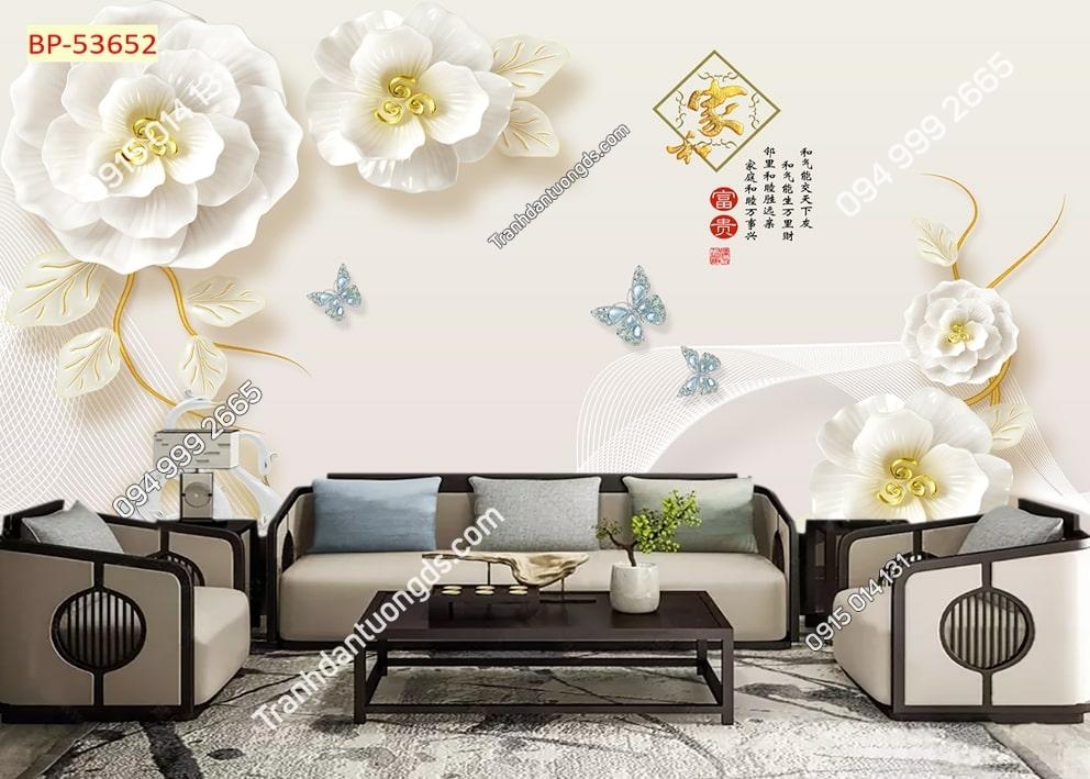 Tranh tường hoa và bướm 53652