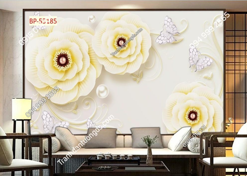 Tranh tường hoa và bướm 55185