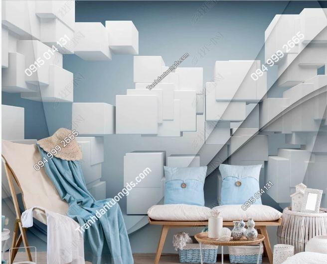 Tranh tường khối vuông 3D DS_17162614
