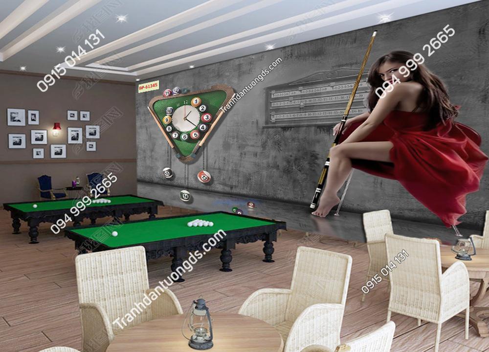 Tranh tường quán Bi A cô gái sexy 61345