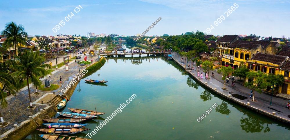 Tranh tường sông hoài Hội An 1083707576