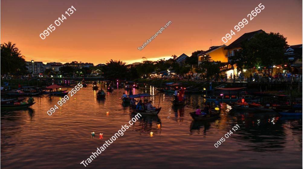 Tranh tường sông hoài Hội An về đêm 1171401904