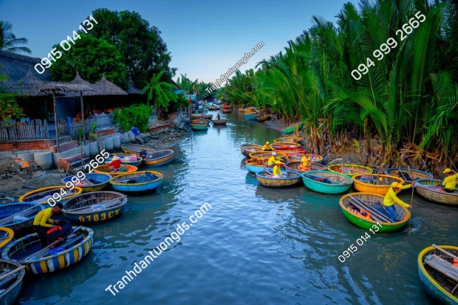 Tranh tường thuyền thúng Hội An 1502870057