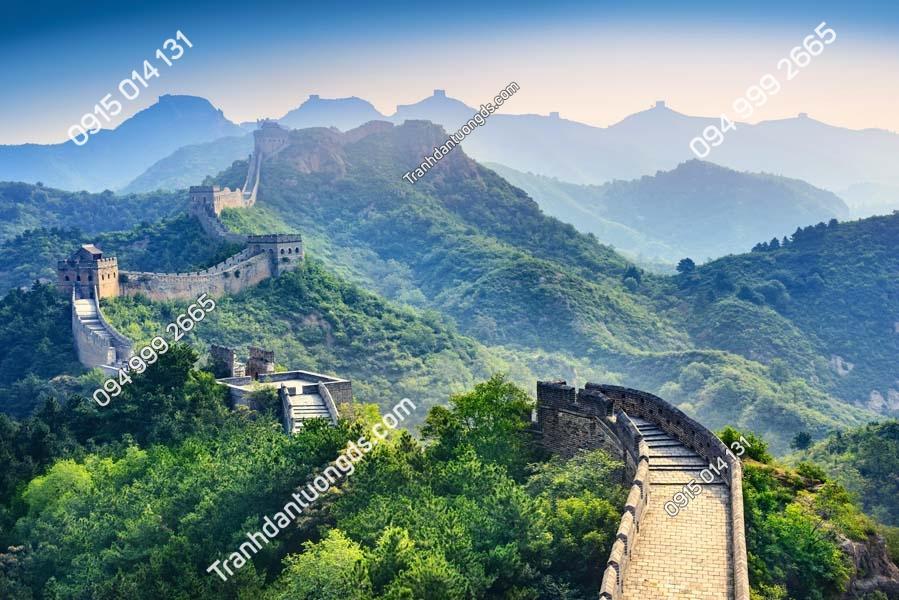 Tranh vạn lý trường thành dán tường