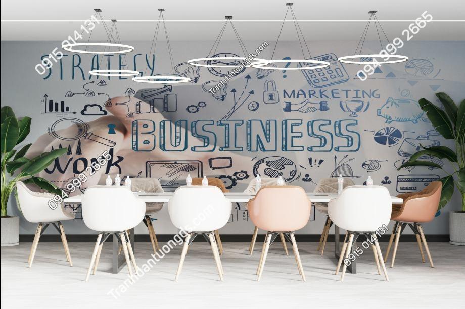 TRanh tường văn phòng business 1927629188