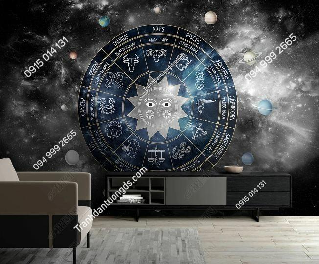 Tranh 12 chòm sao dán tường weili_25148536