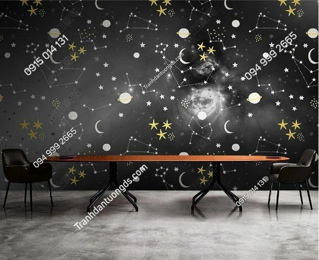 Tranh 12 chòm sao dán tường weili_25148537