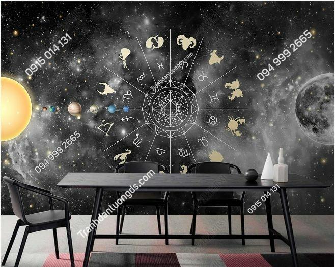 Tranh 12 chòm sao dán tường weili_25151247