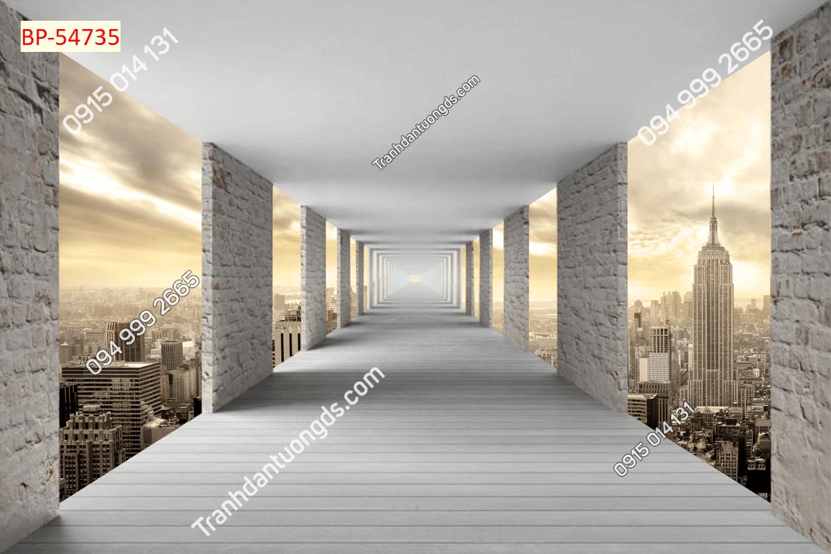 Tranh 3D đường hầm chiều sâu_54735