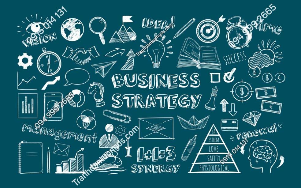 Tranh business strategy văn phòng 763415260