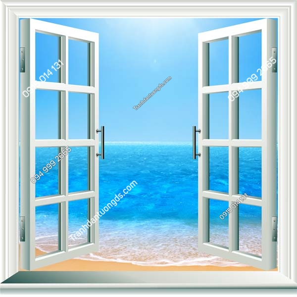 Tranh cửa sổ khổ dọc_CS118
