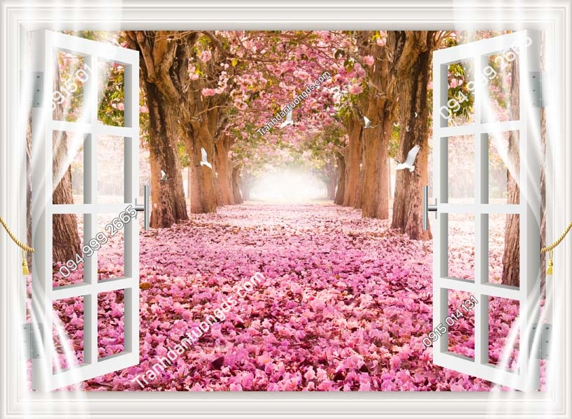 Tranh dán tường cửa sổ đẹp