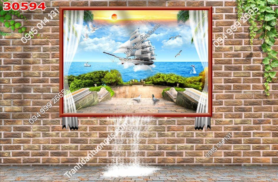 Tranh dán tường cửa sổ_30594