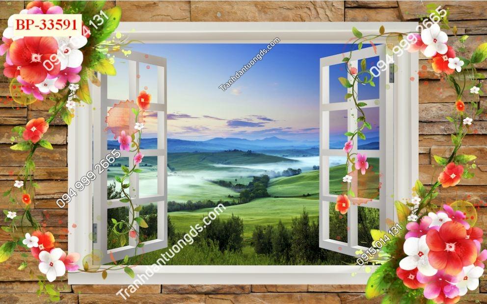 Tranh dán tường cửa sổ_33591