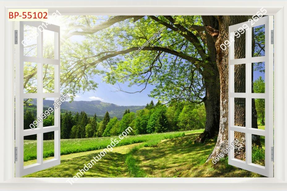Tranh dán tường cửa sổ_55102