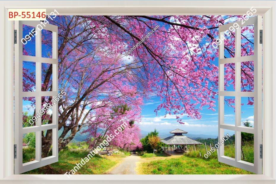 Tranh dán tường cửa sổ_55146