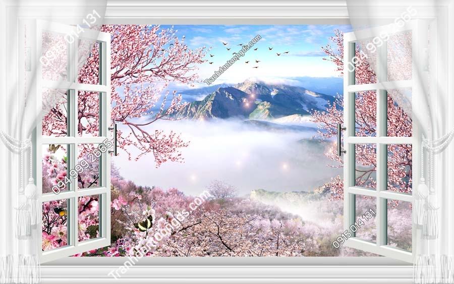 Tranh dán tường cửa sổ_CS010
