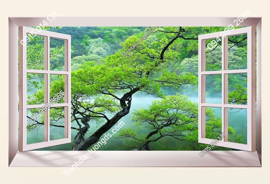 Tranh dán tường cửa sổ_CS116